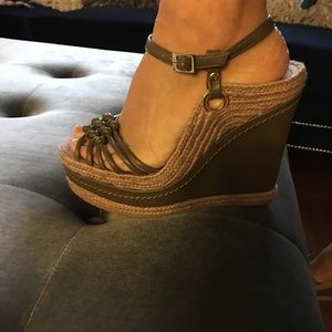 H by Halston wedges